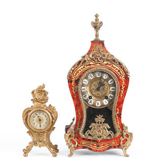 Two French style mantle clocks
