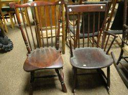Windsor Fanback Side Chair and Rodback Arm Rocker