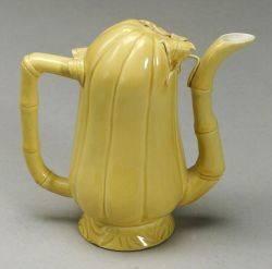 Chinese Yellow Glazed Ceramic Wine Pot
