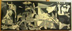 Large Oil Painting After Picassos Guernica