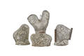 Four rooster and hen chocolate molds