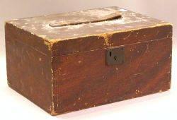 Grain Painted Wooden Storage Box
