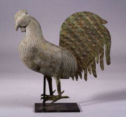 Cast Zinc and Sheet Copper Rooster Weathervane
