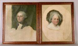 After Gilbert Stuart American 17551828 Athenaeum Portraits of George and Martha Washington