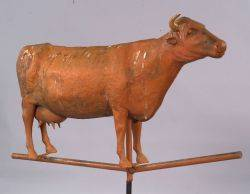 Molded Copper and Zinc Cow Weathervane