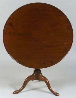 Chippendale Mahogany Tilttop Tripod Table