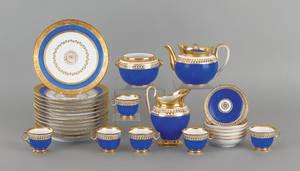 Assembled Paris porcelain tea and luncheon service