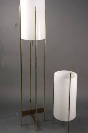 Group of 2 Mid Century Modern Lamps Paul Mayen