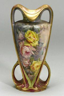 Royal Bonn Art Nouveau Porcelain Vase