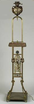 Victorian Torchiere Oil Lamp