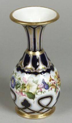 Paris Porcelain Floral Decorated Vase