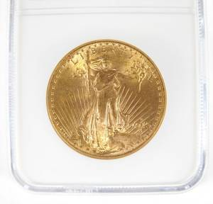 US 1915 20 gold St Gaudens coin