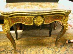 Louis XV Style Ormolu Mounted Boule Card Table