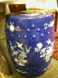 Chinese Export Porcelain Blue and White Barrelform Garden Seat