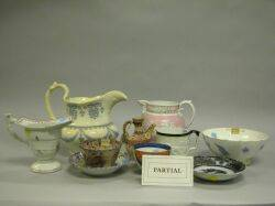 Eighteen Pieces of Assorted English European and Chinese Ceramic Table Items