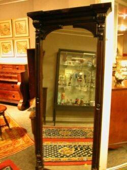 Renaissance Revival Walnut Pier Mirror