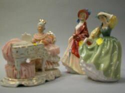 Two Royal Doulton Ceramic Figures and a German Porcelain Figure