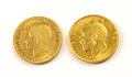 Two Great Britain George V gold coin sovereigns 1912 and 1930