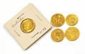 Three ancient Italian gold coins including Constantius II