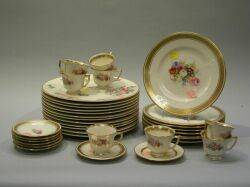 Set of Twelve Old Ivory Glenwood Luncheon Plates Set of Eight Tatler of Trenton Cake Plates and Eight Demitasse Cups and Eight Saucers