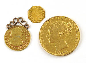 British gold sovereign 1844