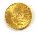 1915 US 10 gold Indian head coin