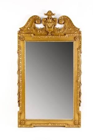 Louis XVI Style Mirror wGold Finish