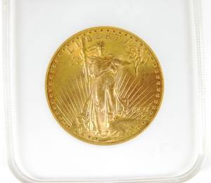 US 1927 20 gold St Gaudens coin