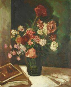 Randall Davey American 18871964 Still Life with Poppies