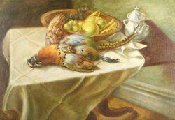 Saul Schary American 19041978 Still Life with Pheasant