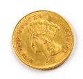 1878 US 3 gold coin