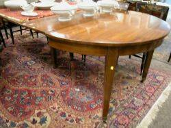 Regencystyle Inlaid Mahogany Extension Dining Table