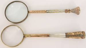 Two Mother of Pearl Handled Magnifying Glasses