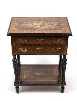 Neoclassical Style Marquetry Inlaid Dressing Table