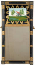 Two painted Sheraton mirrors