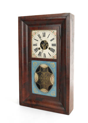 Terry  Andrews mahogany ogee mantle clock
