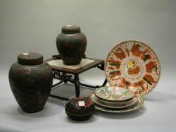 Nine Assorted Asian Decorative Items