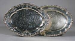 Two Gorham Sterling Silver Serving Platters