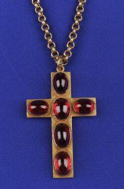 Antique 14kt Gold and Garnet Pendant Necklace