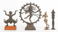 Four southeastern Asian bronze religious figures