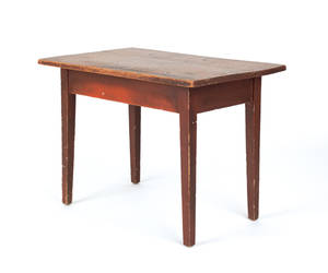 New England painted pine work table