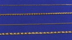 Group of Four 22kt and 18kt Gold Necklaces