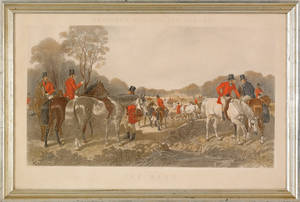 Fox hunt lithograph after Herring