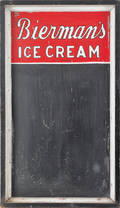 Tin trade sign for  Biermans Ice Cream