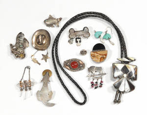 Mexican sterling silver brooches