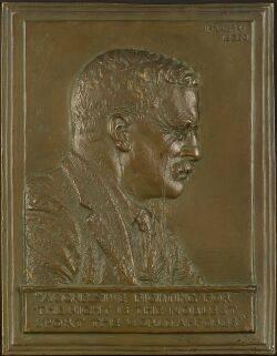 James Earle Fraser American 18761953 Roosevelt BasRelief Plaque