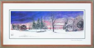 Signed lithograph titled  Winters Eve in Dilworthtown