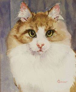 Mabel Greer American 20th Century Lot of Two Cat Studies Including Wink and Tabby Cat
