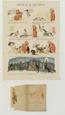 After Theophile Alexandre Steinlen SwissFrench 18591923 Lolotte et Le Chat Maigre