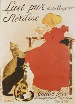 After Theophile Alexandre Steinlen SwissFrench 18591923 Lait pur de la Vinveanne Sterilise